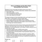 Henry and Mudge and the Starry Night Standardized Test Packet