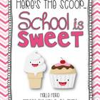 Here's the Scoop: School is Sweet {Craftivities and So Muc