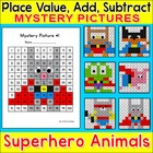 Hero Animals Mystery Pictures Worksheets – Place Value, Ad
