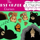 Hibernation & Migration {Digital Clip Art} Bears, Butterfl