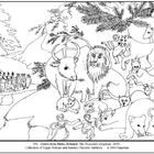Hicks. The Peaceable Kingdom.  Coloring page and lesson pl