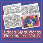 Hidden Sight Word Worksheets - Sing & Spell Vol. 2