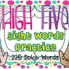 High Five Sight Words Practice {220 Dolch Words}