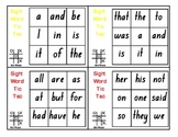 High Frequency/100 Magic Words Tic Tac Toe Sight Words