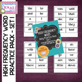 High Frequency Word Daily Practice Pack - Set 1