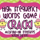"High Frequency Words Game ""CRACK!"" McGraw-Hill Treasures"