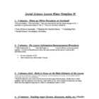 """High Performance Social Science Lesson Plan Template"""
