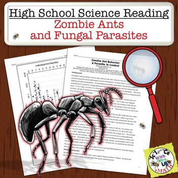 High School Science Reading: Zombie Ants and Fungal Parasites - Sub Plan