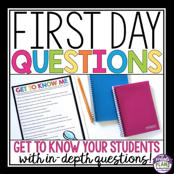 FIRST DAY OF SCHOOL QUESTIONS - Middle & High School