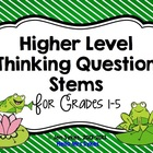 Higher Level Thinking Questions for Reading Comprehension