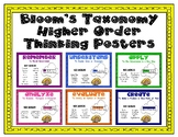 Higher Order Thinking Posters based on Bloom's Taxonomy