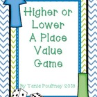 Higher or Lower Place Value game