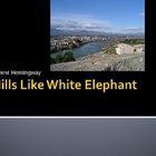 Hills Like White Elephants by Hemingway Powerpoint/Edward Hopper