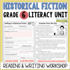Historical Fiction Reading & Writing Unit Grade 6: 40 Deta
