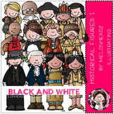 Historical Figures 1 bundle by melonheadz black and white