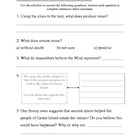 Histories Mysteries daily comprehension worksheets