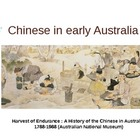 History: Chinese in Early Australia