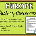 History of Europe Test -- Editable Multiple Choice Test