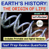 History of Life on Earth / Origin of Life Review Q and A P
