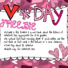 History of Valentine's Day nonfiction Minibook and activities