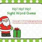 Ho! Ho! Ho! Game for Sight Words