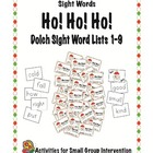 Ho! Ho! Sight Word Game for the Dolch 220 Sight Words
