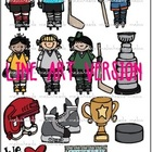 Hockey LINE ART bundle by melonheadz