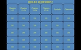 Holes  by Louis Sachar Jeopardy PowerPoint Game