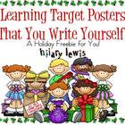 Holiday DIY Learning Targets FREEBIE