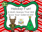 Holiday Fun~ Ink Saving Math Centers!