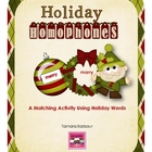 Holiday Homophones