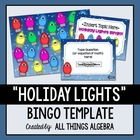 Holiday Lights Bingo Game Template