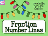 Common Core Fraction Number Lines Christmas Lights