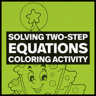 Holiday Math Color by Number:  Solving 2-Step Equations