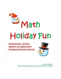 Holiday Math Fun--Multiplication and Division Mystery Pictures