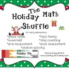 MATH- Holiday Math Shuffle: Place Value, Fact Families, Ev