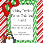 Holiday Number Forms Matching Game