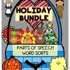 Holiday Parts of Speech Word Sorts