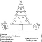 Holiday Polygon Coloring Activity