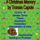 "Holiday Story & Personal Narrative Activity: Capote ""A Chr"
