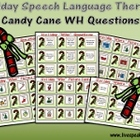 Holiday Speech-Language Therapy: Candy Cane WH Questions
