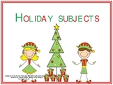 Holiday Subjects! Find the Sentence Subject