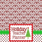 Holiday Teacher Planner Damask Design