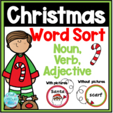 Holiday Word Sort-Nouns,Verbs,Adjectives