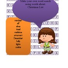 Holiday Word Work - Create your own word searches - 7 searches!