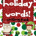 Holiday Words Writing Pack