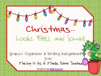 Holiday Writing Activity ~ Christmas...Looks, Feels, & Sounds....