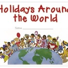 Holidays Around the World - Student Fact Book Activity
