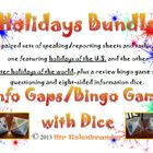 Holidays Bundle with Info Gaps and Game Dice