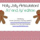 Holly Jolly Articulation! /k/ and /g/ edition